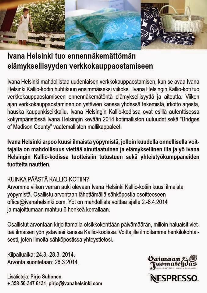 Ivana Helsinki Kallio-kotiyö ja miten keski-ikäisellä kävi munkki!