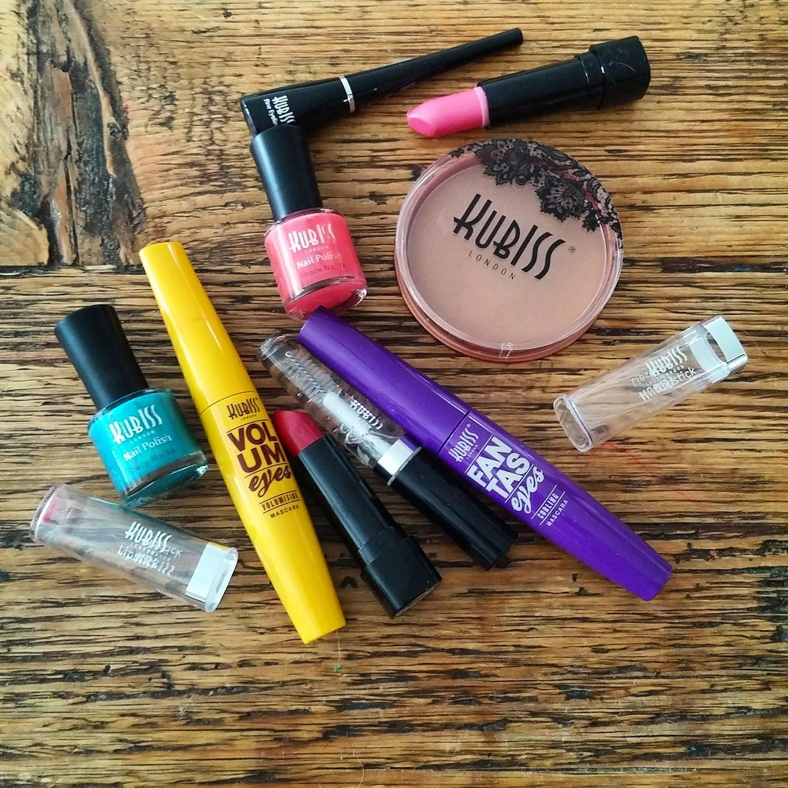 Arvonnassa mahtava meikkipaketti Kubiss London meikkejä!