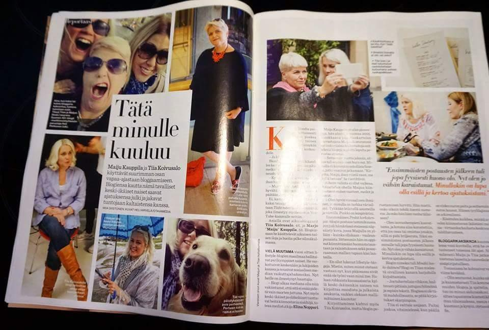 """Anna lehdessä tänään! Anna lehti vietti päivän tätien matkassa, """"Nyt tulee keski-ikäiset naisbloggarit"""""""