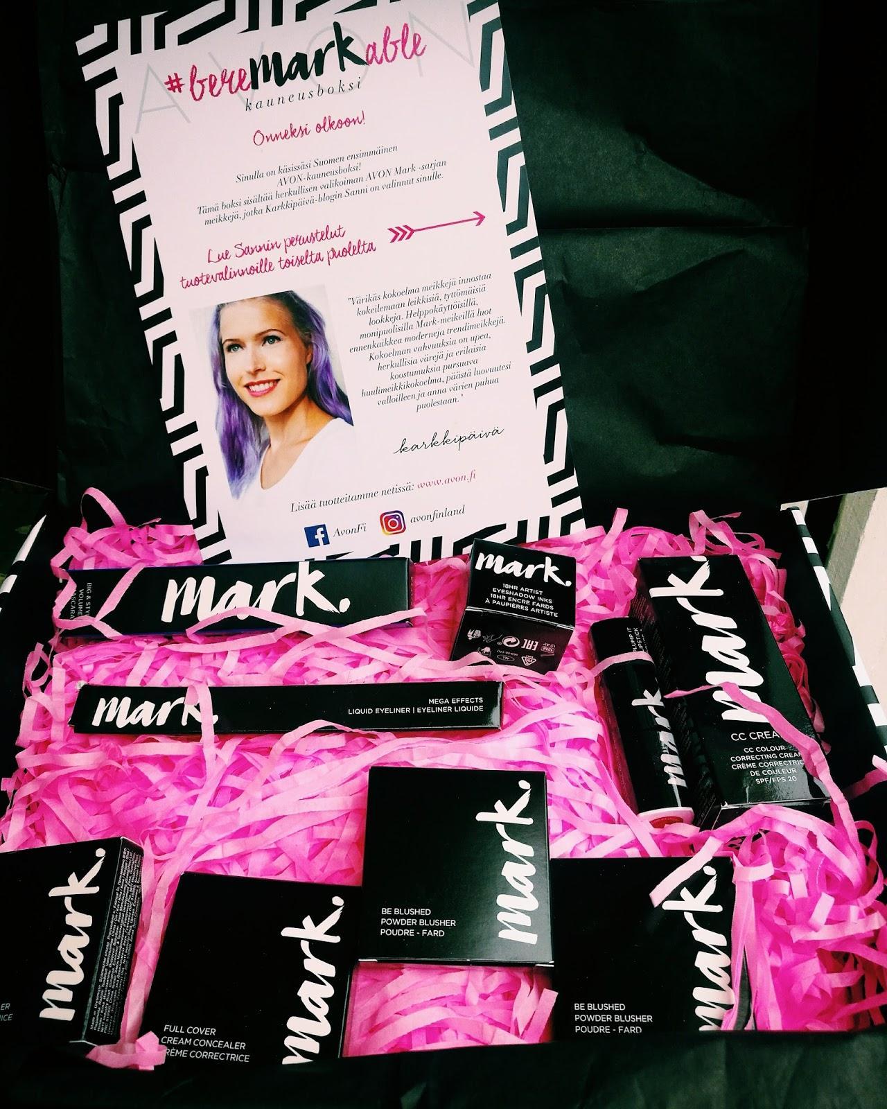 Avon Mark Karkkipäivän kauneusboxi ja meikkiarvonta