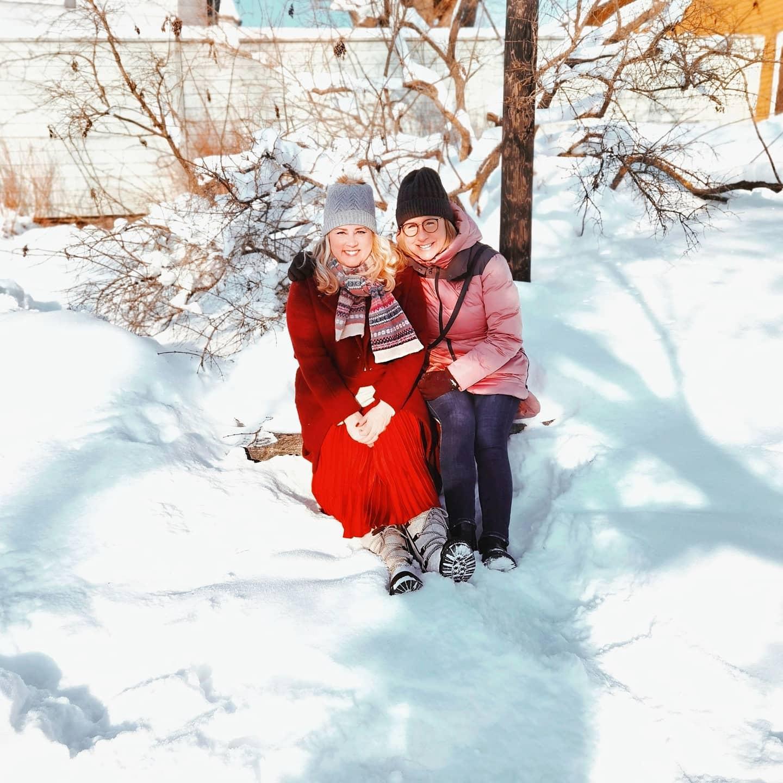 porvoo, ystävät, talvi, pakknen